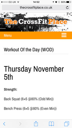 iphone wod